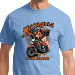 Mens Biker Shirt Motorhead Garage Tee T-Shirt