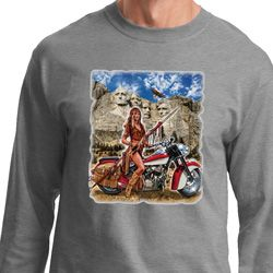 Mens Biker Shirt Sturgis Indian Long Sleeve Tee
