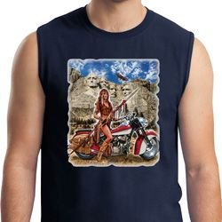 Mens Biker Shirt Sturgis Indian Muscle Tee T-Shirt
