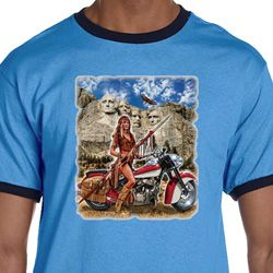 Mens Biker Shirt Sturgis Indian Ringer Tee T-Shirt