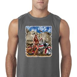 Mens Biker Shirt Sturgis Indian Sleeveless Tee T-Shirt