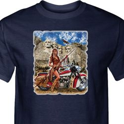 Mens Biker Shirt Sturgis Indian Tall Tee T-Shirt