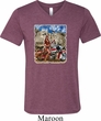 Mens Biker Shirt Sturgis Indian Tri Blend V-neck Tee