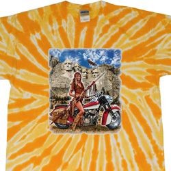 Mens Biker Shirt Sturgis Indian Twist Tie Dye Tee T-shirt