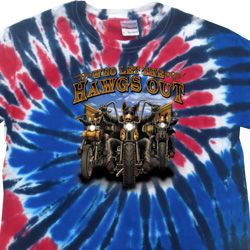 Mens Biker Shirt Who Let The Hawgs Out Patriotic Tie Dye Tee T-shirt