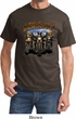 Mens Biker Shirt Who Let The Hawgs Out Tee T-Shirt