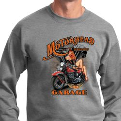 Mens Biker Sweatshirt Motorhead Garage Sweat Shirt
