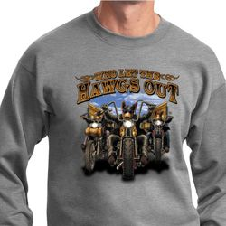 Mens Biker Sweatshirt Who Let The Hawgs Out Sweat Shirt