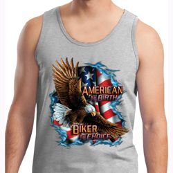 Mens Biker Tanktop American By Birth Tank Top