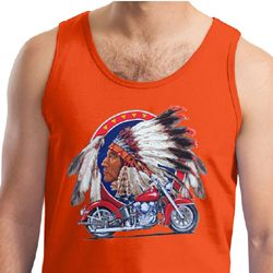 Mens Biker Tanktop Big Chief Indian Motorcycle Tank Top