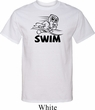 Mens Black Penguin Power Swim Tall T-shirt