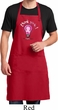 Mens Breast Cancer Apron Think Pink Full Length Apron with Pockets
