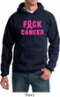 Mens Breast Cancer Awareness Hoodie F*CK Cancer Hoody