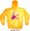 Mens Breast Cancer Awareness Hoodie Fight For a Cure Tie Dye Hoody