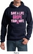 Mens Breast Cancer Awareness Hoodie Grope Your Wife Hoody