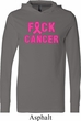 Mens Breast Cancer Awareness Shirt F*CK Cancer Lightweight Hoodie Tee