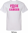 Mens Breast Cancer Awareness Shirt F*CK Cancer Tall Tee T-Shirt