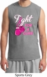 Mens Breast Cancer Awareness Shirt Fight For a Cure Muscle Tee T-Shirt