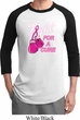 Mens Breast Cancer Awareness Shirt Fight For a Cure Raglan Tee T-Shirt