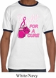 Mens Breast Cancer Awareness Shirt Fight For a Cure Ringer Tee T-Shirt