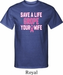 Mens Breast Cancer Awareness Shirt Grope Your Wife Tall Tee T-Shirt