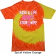 Mens Breast Cancer Awareness Shirt Grope Your Wife Tie Dye Tee T-shirt