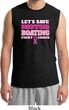 Mens Breast Cancer Awareness Shirt Motor Boating Muscle Tee T-Shirt