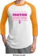 Mens Breast Cancer Awareness Shirt Motor Boating Raglan Tee T-Shirt