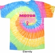 Mens Breast Cancer Awareness Shirt Motor Boating Tie Dye Tee T-shirt