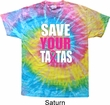 Mens Breast Cancer Awareness Shirt Save Your Tatas Tie Dye Tee T-shirt