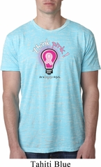 Mens Breast Cancer Awareness Shirt Think Pink Burnout Tee T-Shirt
