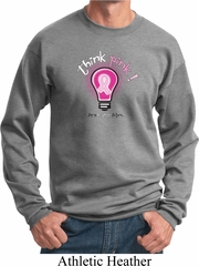 Mens Breast Cancer Awareness Sweatshirt Think Pink Sweat Shirt
