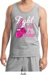 Mens Breast Cancer Awareness Tanktop Fight For a Cure Tank Top