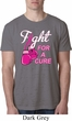 Mens Breast Cancer Shirt Fight For a Cure Burnout Tee T-Shirt