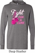 Mens Breast Cancer Shirt Fight For a Cure Lightweight Hoodie Tee