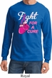 Mens Breast Cancer Shirt Fight For a Cure Long Sleeve Tee T-Shirt