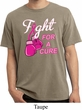 Mens Breast Cancer Shirt Fight For a Cure Pigment Dyed Tee T-Shirt