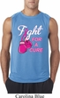 Mens Breast Cancer Shirt Fight For a Cure Sleeveless Tee T-Shirt