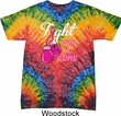Mens Breast Cancer Shirt Fight For a Cure Tie Dye Tee T-shirt