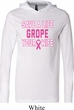 Mens Breast Cancer Shirt Grope Your Wife Lightweight Hoodie Tee