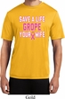 Mens Breast Cancer Shirt Grope Your Wife Moisture Wicking Tee T-Shirt