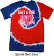 Mens Breast Cancer Shirt Grope Your Wife Patriotic Tie Dye Tee T-shirt