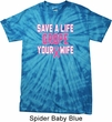 Mens Breast Cancer Shirt Grope Your Wife Spider Tie Dye Tee T-shirt