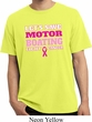 Mens Breast Cancer Shirt Motor Boating Pigment Dyed Tee T-Shirt