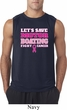 Mens Breast Cancer Shirt Motor Boating Sleeveless Tee T-Shirt