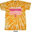 Mens Breast Cancer Shirt Motor Boating Twist Tie Dye Tee T-shirt
