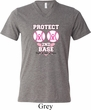 Mens Breast Cancer Shirt Protect 2nd Base Tri Blend V-neck Tee T-Shirt
