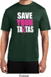 Mens Breast Cancer Shirt Save Your Tatas Moisture Wicking Tee T-Shirt