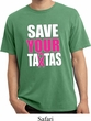 Mens Breast Cancer Shirt Save Your Tatas Pigment Dyed Tee T-Shirt