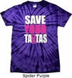 Mens Breast Cancer Shirt Save Your Tatas Spider Tie Dye Tee T-shirt